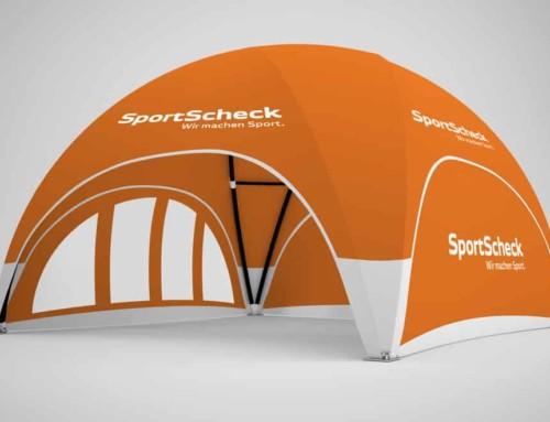SportScheck Dome-Pavillon 6×6 für Sieger