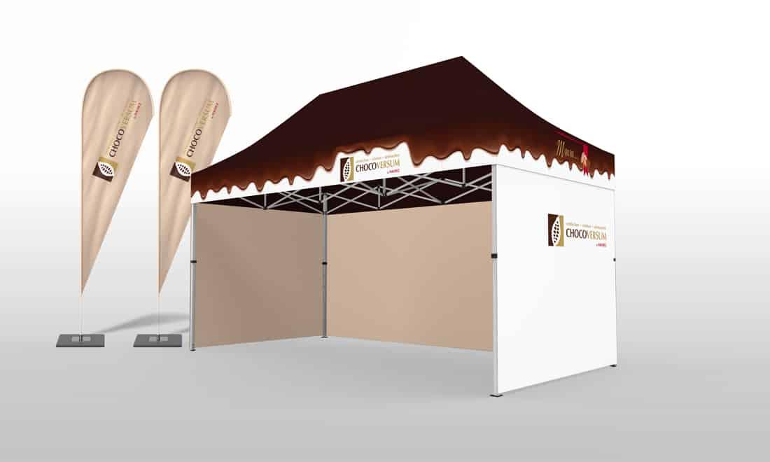 2x3 stadtfest-pavillon faltpavillon chocoversum hamburg