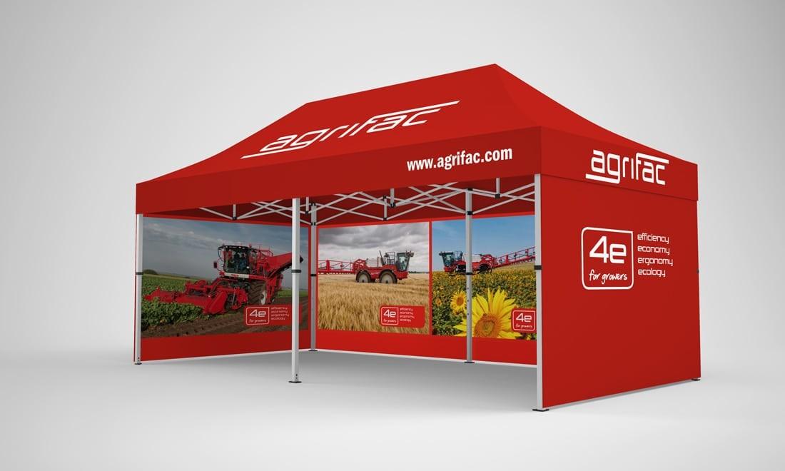 Marken-promotion pavillon 3x6 agrifac