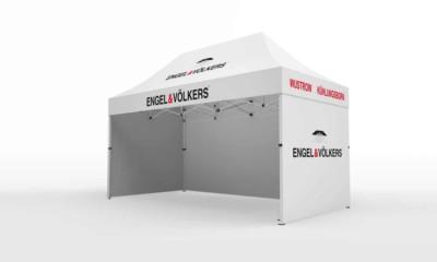 promotion-pavillon auf dem Stadtfest mit faltpavillon 2x3