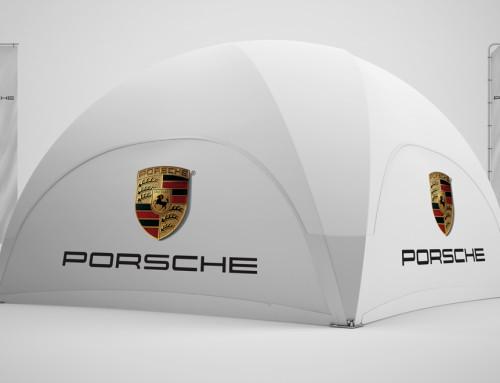 Porsche Dome-Pavillon 6×6 mit Nachhaltigkeit