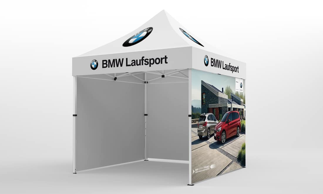 faltpavillon 3x3 BMW Laufsport