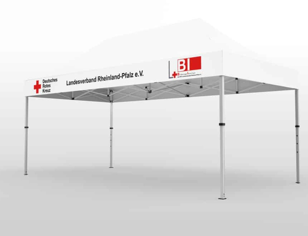 DRK-Faltpavillon 3×4 überzeugt durch Stabilität