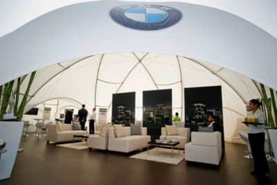 Profi Dome-Pavillon mit Holzboden