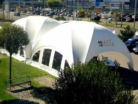 Aufblasbarer Pavillon 3x3 ist kombinierbar