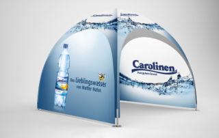 dome-pavillon 3x3 carolinen-wasser