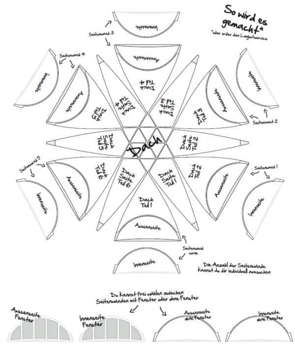 Grafik-Vorlage Profi Dome-Pavillon 14x16