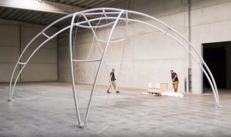 Montage Profi Dome-Pavillon 6x6