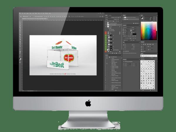 Faltpavillon-3x3 Am Mac den Werbedruck-bearbeiten