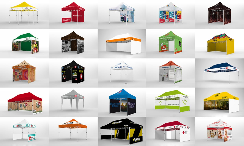auswahl faltpavillons 2x2 bis 6x6