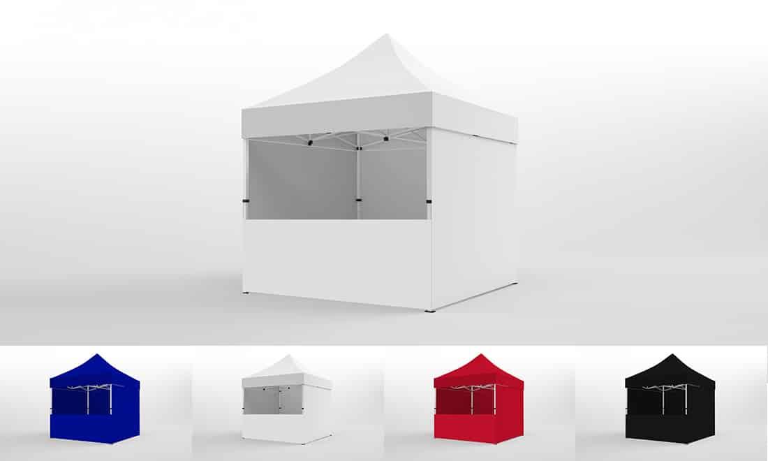 3x3 faltpavillon kompakt alu