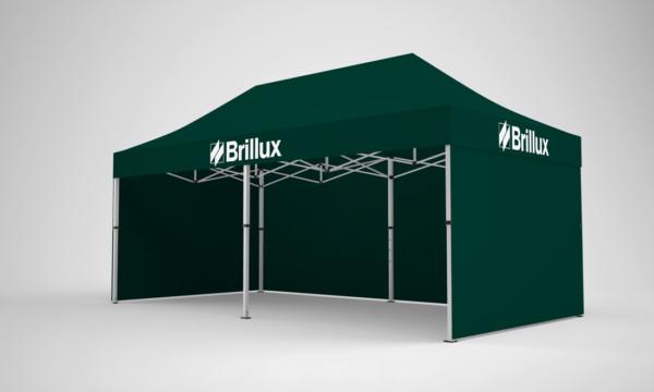Falt-Pavillon 4x8 mit Firmen-Logo auf 4 Seiten