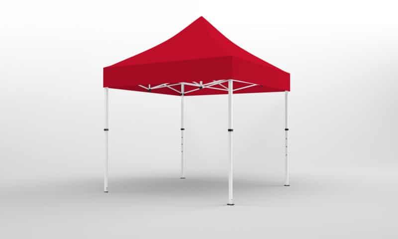 kompakt-faltpavillon 3x3 rot
