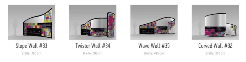 3-dimensionale Raumteiler bis 495cm Breite
