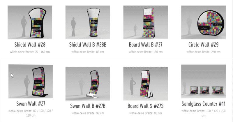 8 Pop-Up Displays in neuen Formen