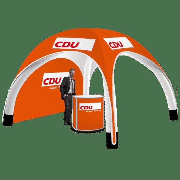 3x3 aufblasbarer Pavillon CDU