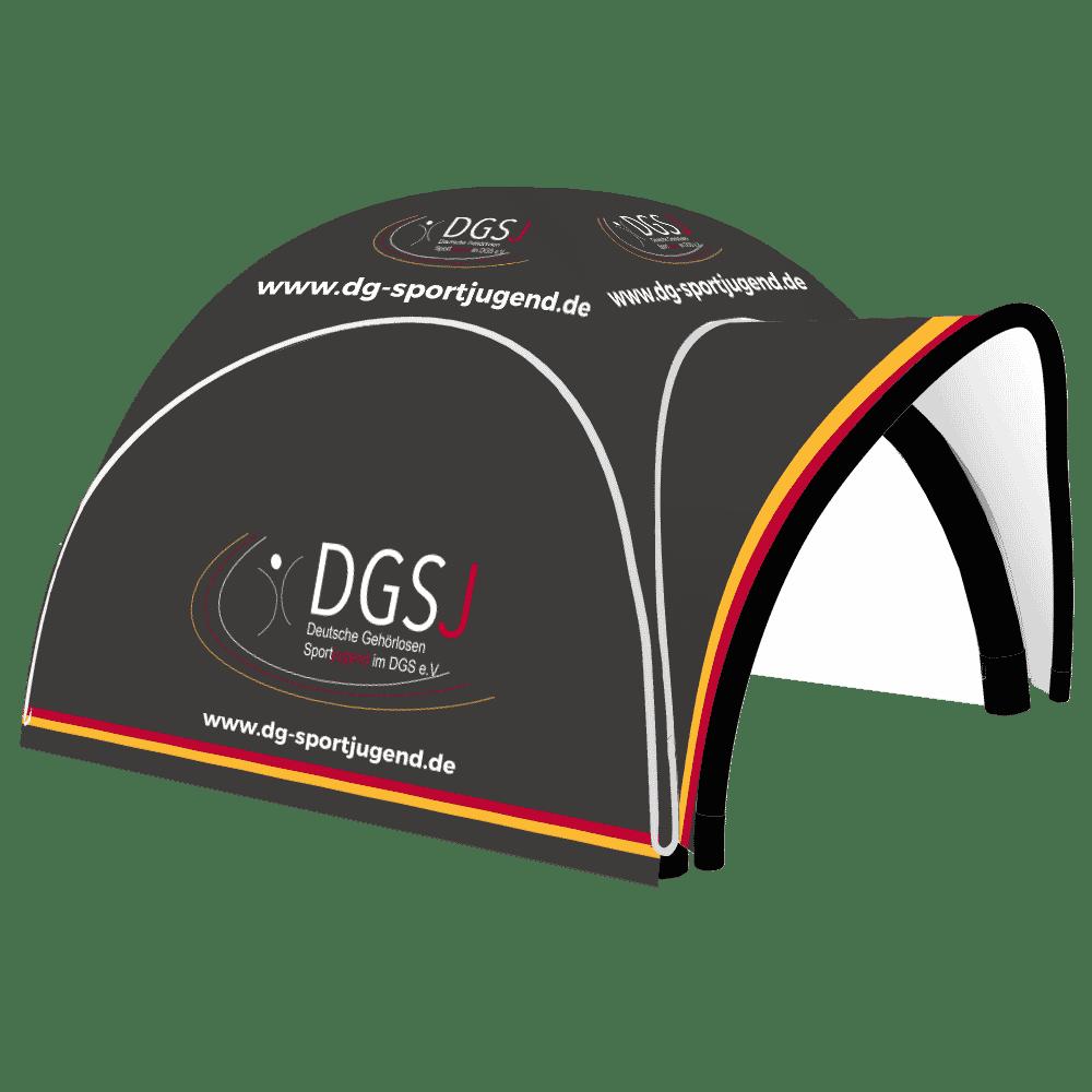 aufblasbarer pavillon 5x5 DGS