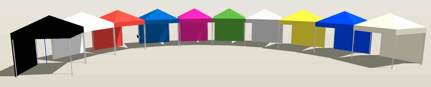 Faltpavillons-in-10-Standardfarben