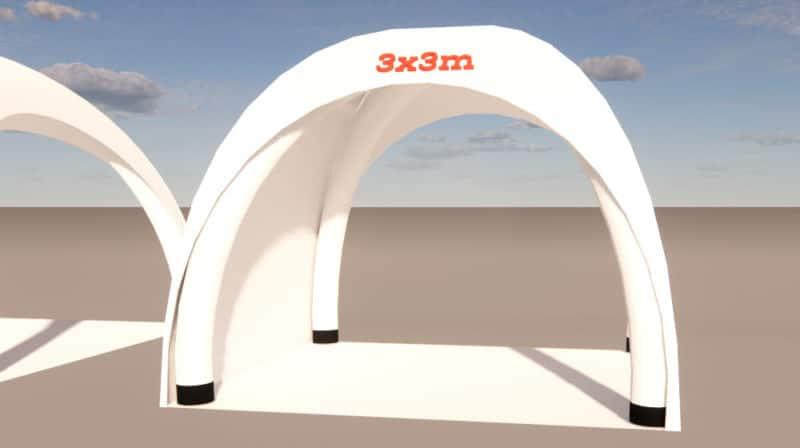 aufblasbarer pavillon 3x3