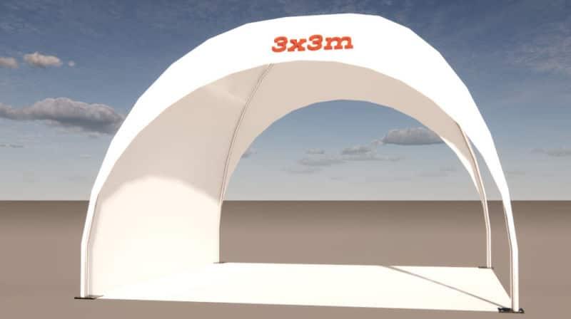 3x3m dome-pavillon stecksystem