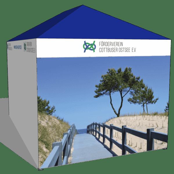 Faltpavillon 3x4 Wunschfigur Werbung Aussen