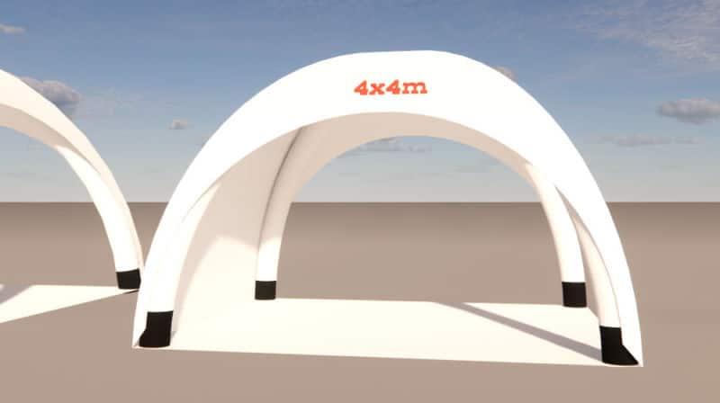 aufblasbarer pavillon 4x4m