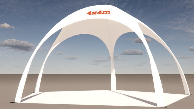 dome-pavillon 4x4m