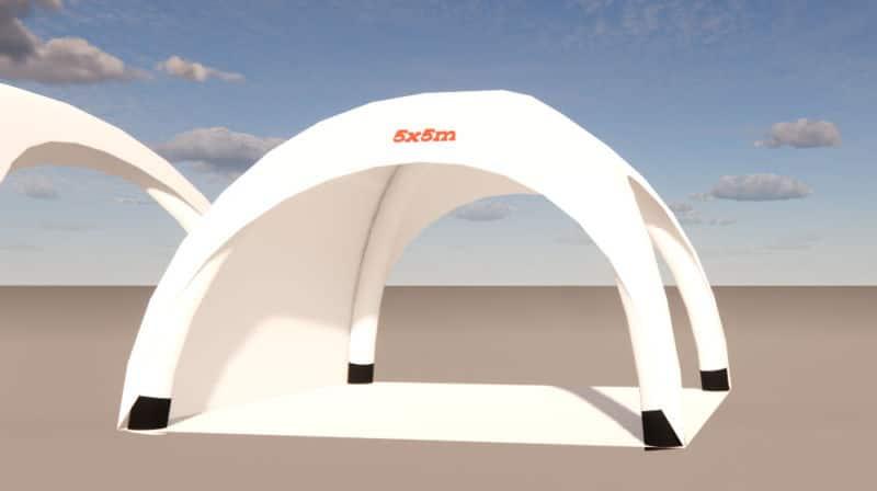 aufblasbarer pavillon 5x5m