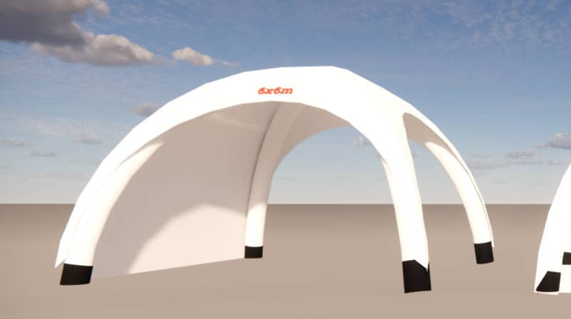 aufblasbarer Pavillon 6x6m
