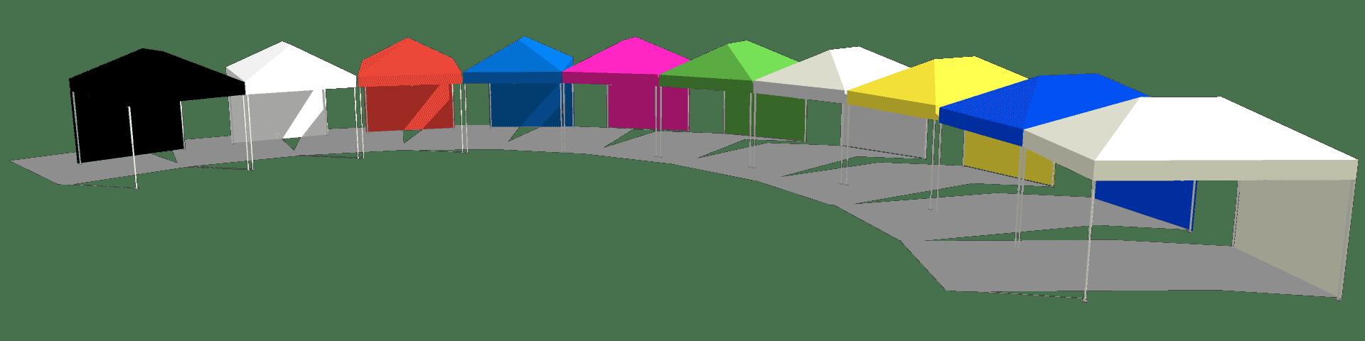 Faltpavillons in 10 Standardfarben von Swiss Display Hamburg