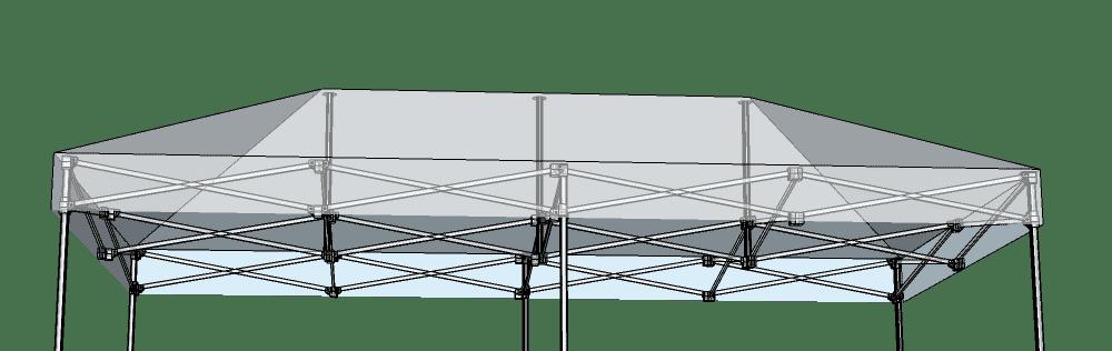 Scherengitter-Faltzelt-3x6 von Swiss Display Hamburg
