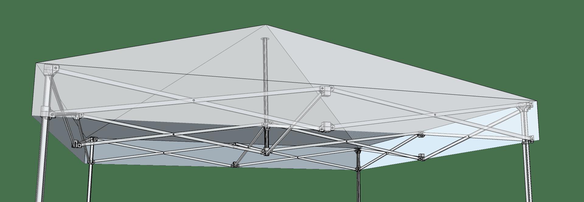 Faltbare Aluminiumkonstruktion mit Scherengitter-Technik