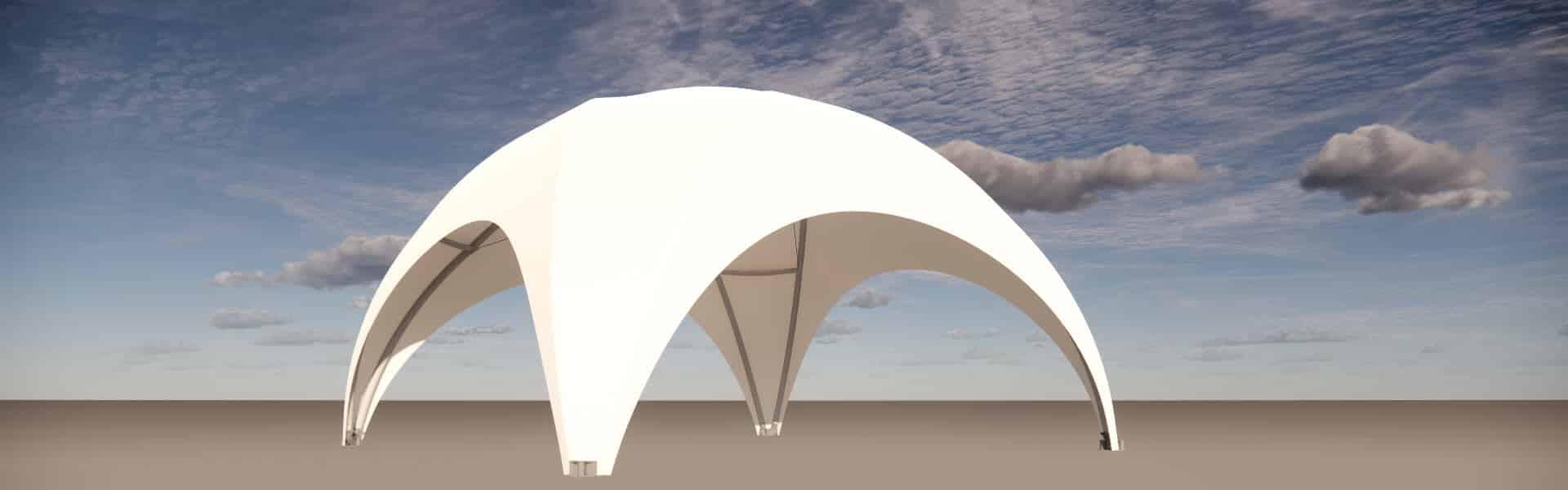Kuppelbau 6x6 überdacht-36-Quadratmeter
