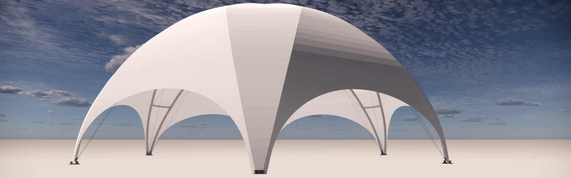 Fliegender Bau Pavillon mit 175m² überdachter Fläche