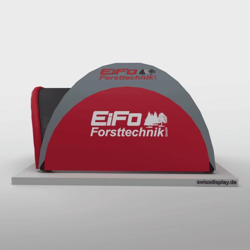 Aufblasbarer Pavillon 5x5m Eifo Forsttechnik Bild 2