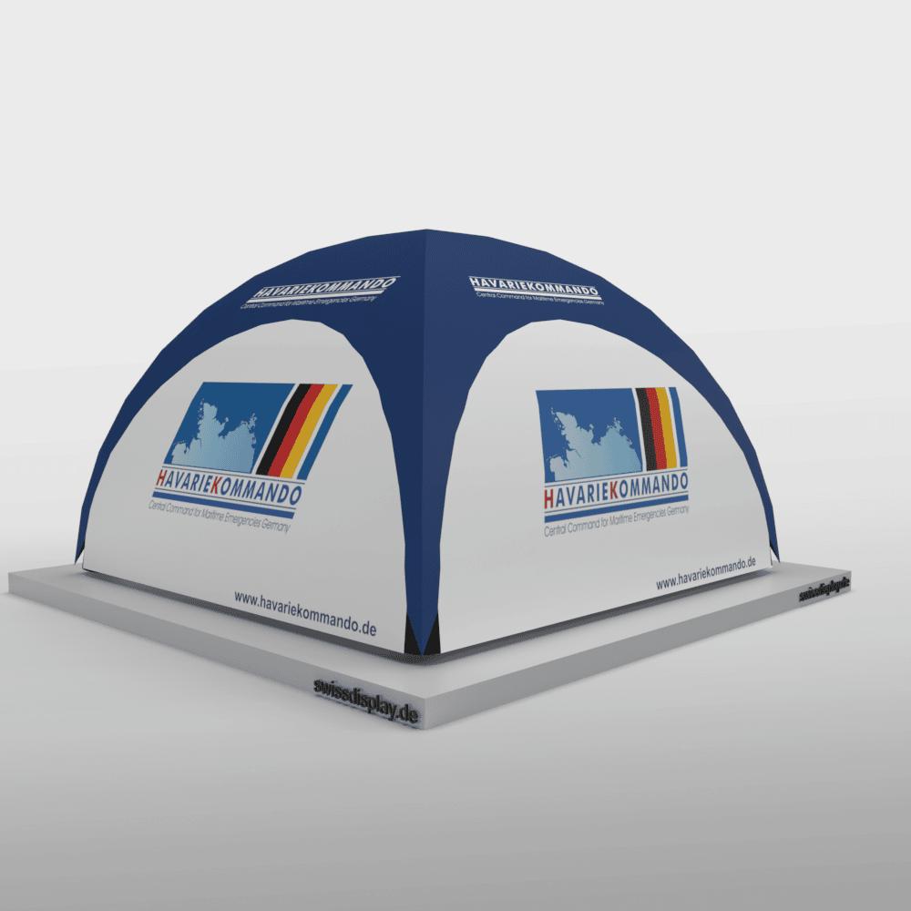 Aufblasbarer Pavillon 6x6 Havariekommando Bild 3