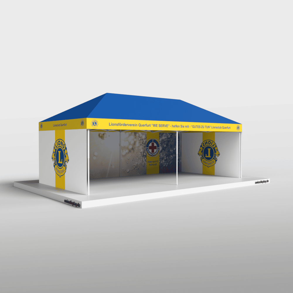 Faltpavillon 4x8 Lions Club