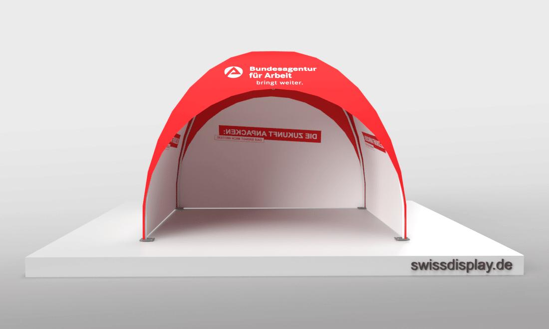 dome pavillon zelt 3x3 Agentur für Arbeit Bild 3