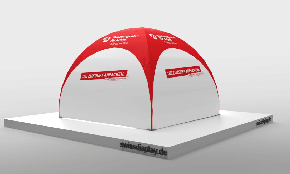 dome pavillon zelt 3x3 Agentur für Arbeit Bild 2