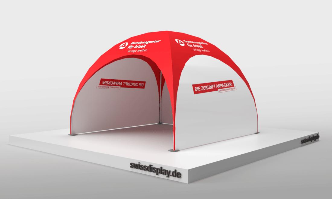 dome pavillon zelt 3x3 Agentur für Arbeit Bild 4