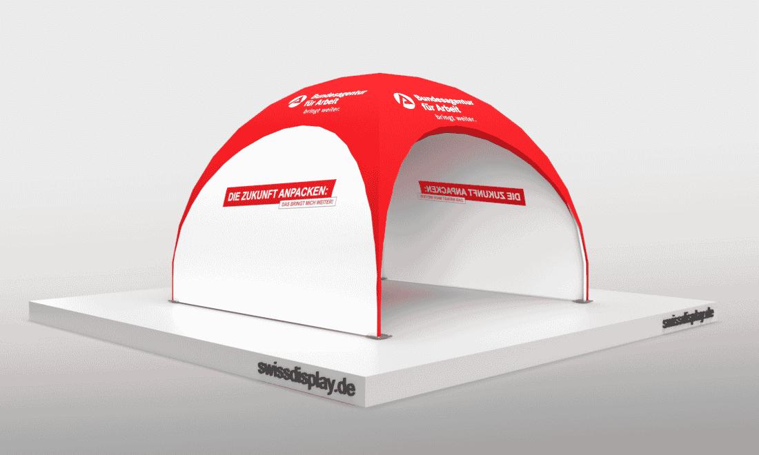 Leichter Dome-Pavillon im 1-Hand Betrieb möglich