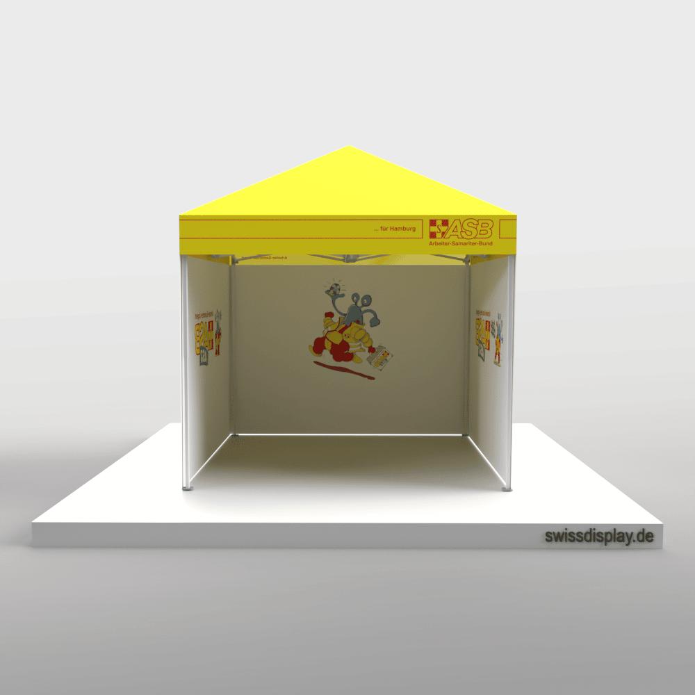 Faltpavillon 3x3 ASB Innenseiten bedruckt